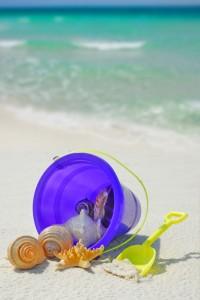 Bucket of seashells